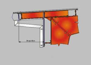 Steel Building Eave Canopy