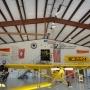 inside metal airplane hangar