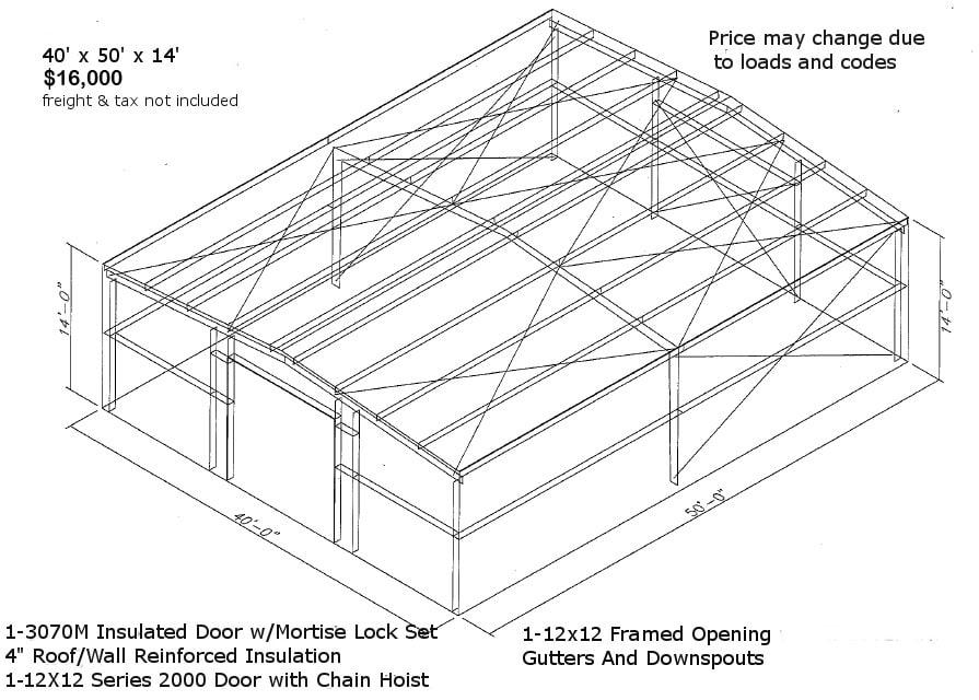 Steel Building Drawing
