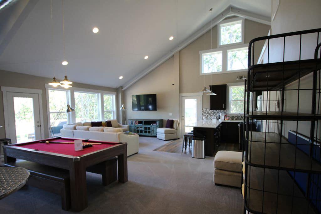 Interior Loft Steel Home