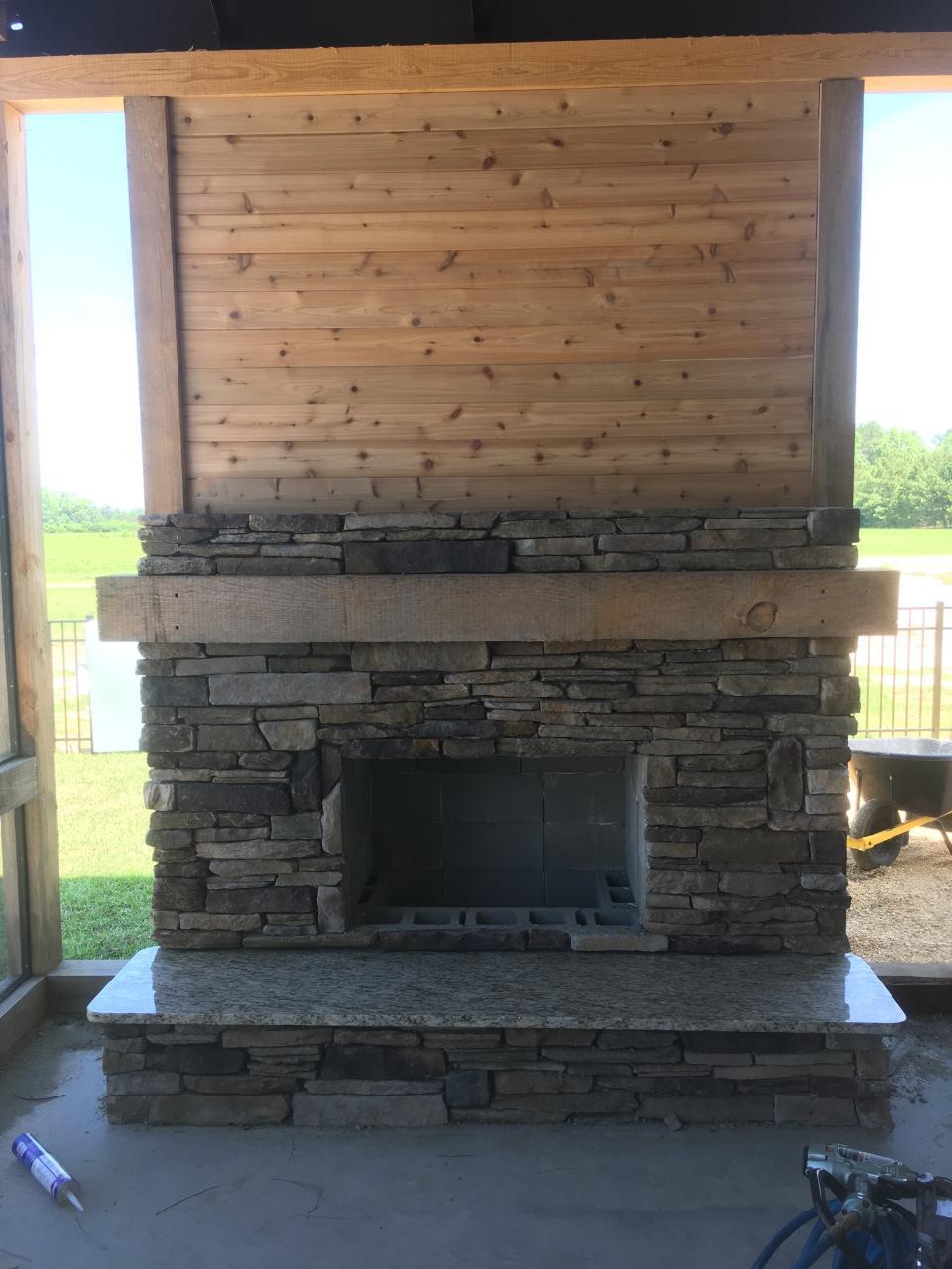 Metal Barn Home Fireplace