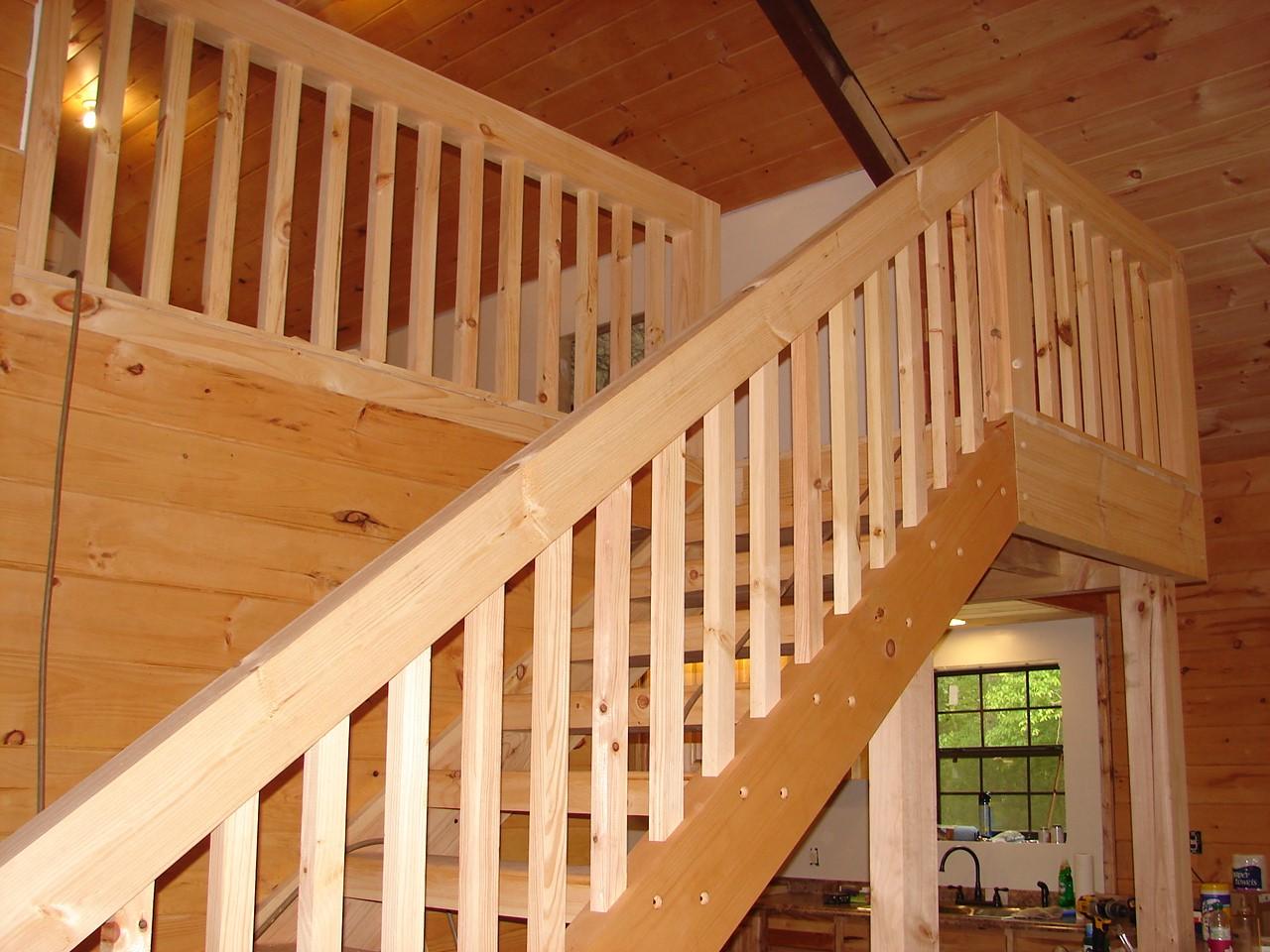 Metal Barn Home Staircase