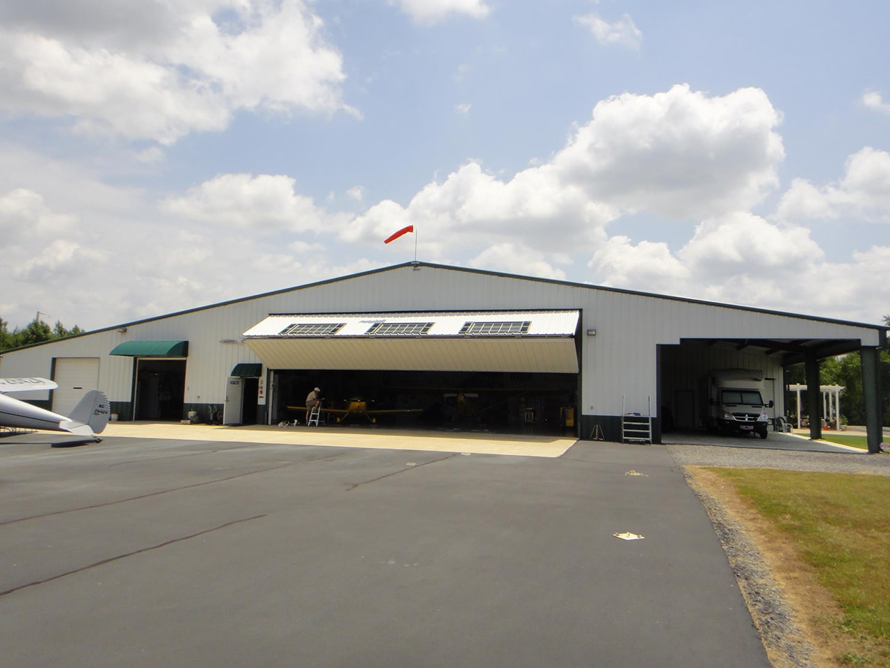 Airplane Hangar Covered Parking