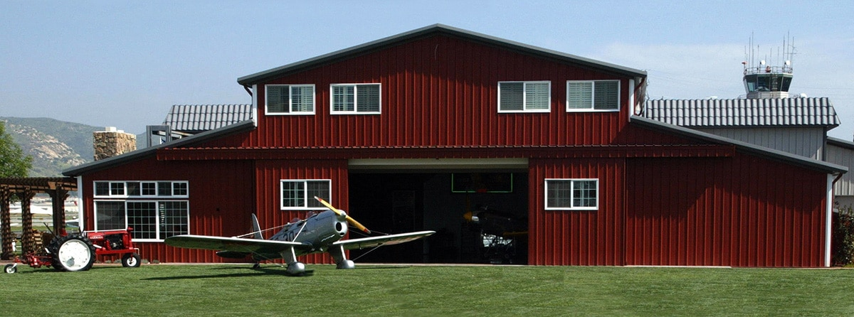 Steel Airplane Hangar - Allen Airways Image