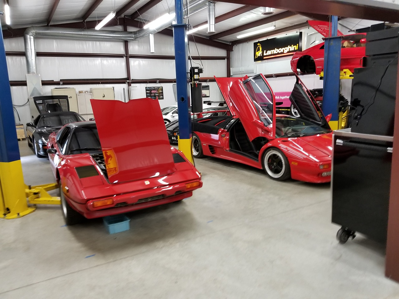 Priceless auto collection in steel building